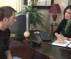 Stockinged India Summer fucking on a difficulty chest of drawers
