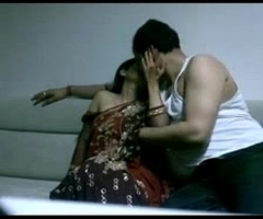 mature indian coupler in lounge after party seducing each other sexual desire