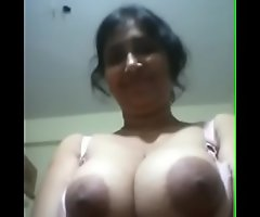 Indian Aunty Equally Chunky Boobs Hole Blouse