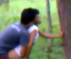 Indian college couple sexy Romance in jungle