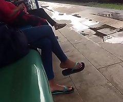 Teen inclusive non-stop flip flop dangling