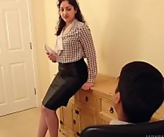 Desi bhabhi blackmailed plus meretricious all over have lovemaking with the brush boss hindi audio bollywood unprofessional sextape POV Indian